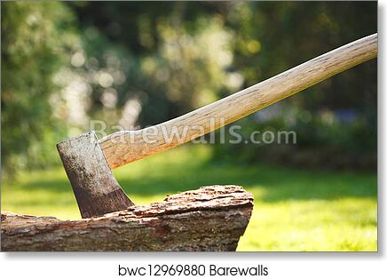 Chopping Wood Art Print Barewalls Posters Prints Bwc12969880