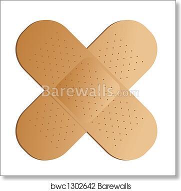 Art Print Of Cross Band Aid Barewalls Posters Prints Bwc1302642