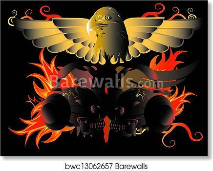 90b25cd36f2f2 Eagle and fire, Art Print | Barewalls Posters & Prints | bwc13062657