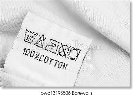 Art Print Of Clothing Label With Laundry Care Instructions