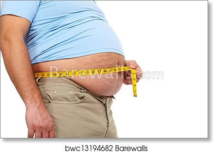 Fat Man With A Big Belly Art Print Poster