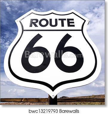 Art Print Of Famous Route 66 Sign Barewalls Posters Prints