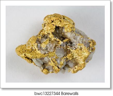 Nevada Usa Gold Quartz Nugget Art Print Barewalls Posters Prints Bwc13227344