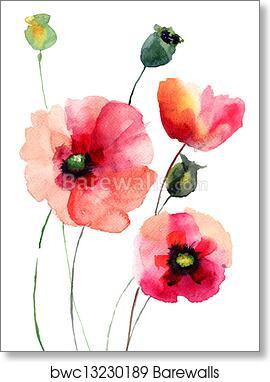 Art print of poppy flowers barewalls posters prints bwc13230189 art print of poppy flowers mightylinksfo