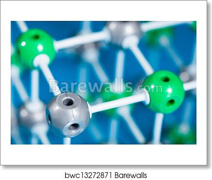 Model of NaCl molecular structure art print poster