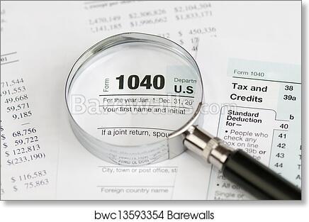 Art Print Of 1040 Income Tax Form Barewalls Posters Prints