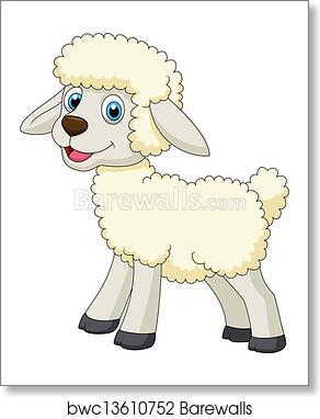 Cute Sheep Cartoon Art Print Barewalls Posters Prints Bwc13610752