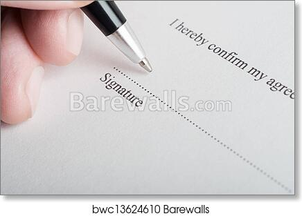 art print of signing a legal document barewalls posters prints