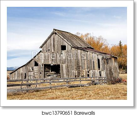 Old Rustic Barn In The Country Art Print Poster