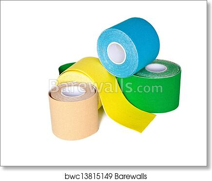 art print of special kinesio tape rolling barewalls posters