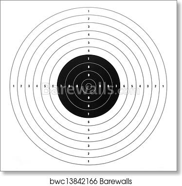 Art print of paper shooting target