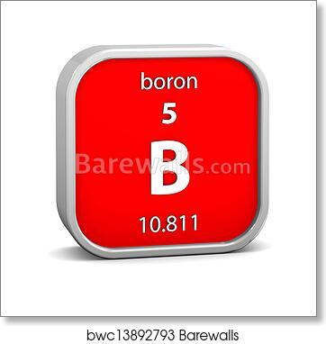 Art Print Of Boron Material Sign Barewalls Posters Prints