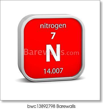 Art Print Of Nitrogen Material Sign Barewalls Posters Prints