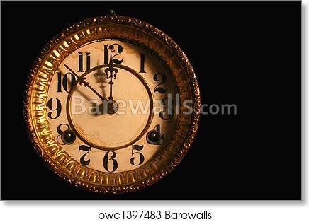 art print of antique clock face barewalls posters prints