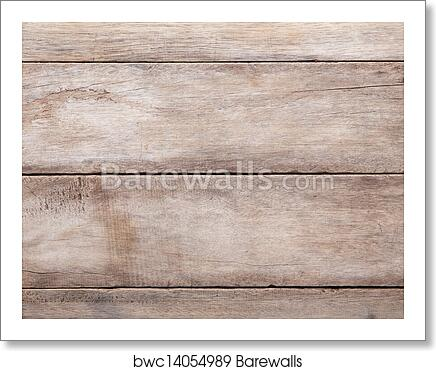 Art Print Of Weathered Wooden Table Background Top View