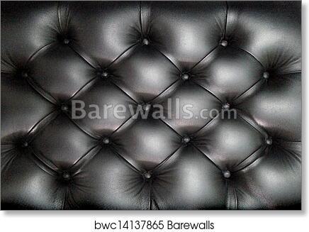 Black Leather Sofa Texture Art Print Poster