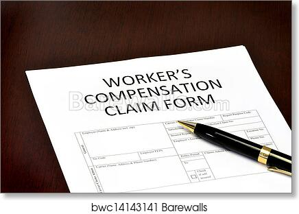 Art Print Of Worker Compensation Form  Barewalls Posters  Prints
