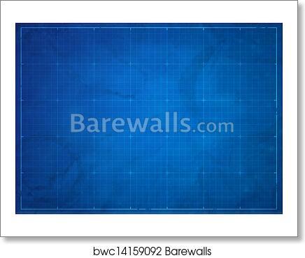 Art print of blueprint background barewalls posters prints art print of blueprint background malvernweather Choice Image