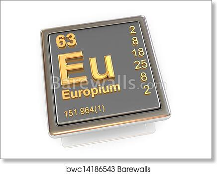 Art Print Of Europium Chemical Element Barewalls Posters