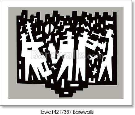 Jazz Band Art Print Poster