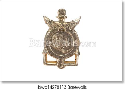 Art Print Of Soviet Army Corps Of Engineers Emblem Isolated