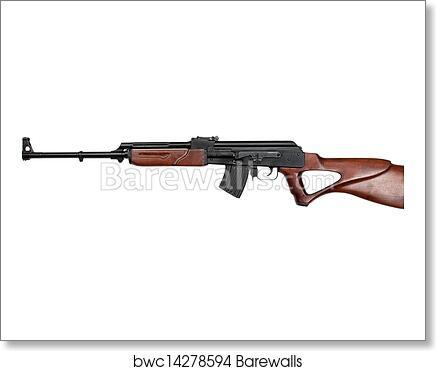 Kalashnikov rifle art print poster