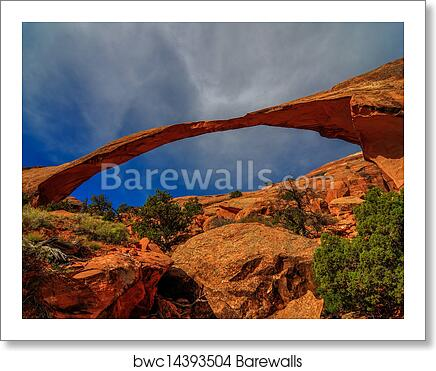 Art Print Of View Landscape Arch In Arches National Park Utah