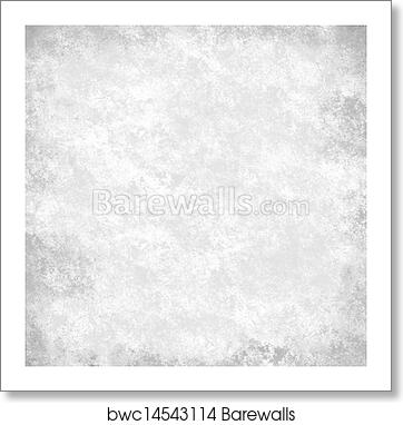 Art Print Of Black And White Background With Accent Light On Border Vintage Grunge Texture Parchment Paper Abstract Gray