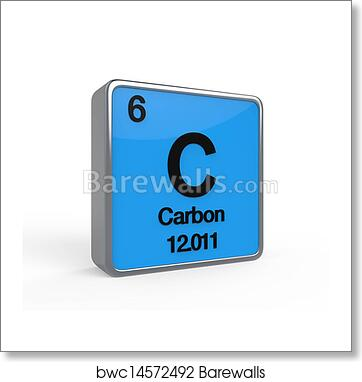 Art print of carbon element periodic table barewalls posters art print of carbon element periodic table urtaz Gallery