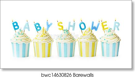 art print of baby shower cupcakes barewalls posters prints