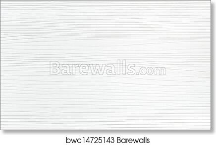 White Wood Texture Background, Art Print