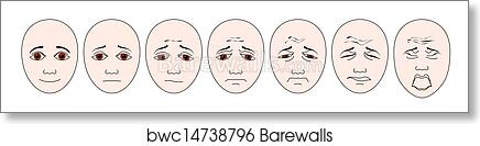 photo about Faces Pain Scale Printable identified as Regular pediatric faces suffering scale artwork print poster