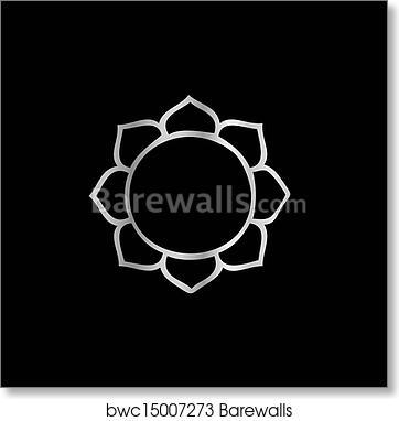 Art print of symbol of buddhism lotus flower barewalls posters art print of symbol of buddhism lotus flower mightylinksfo