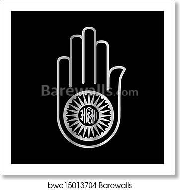Art Print Of Religious Symbol Of Jainism Ahimsa Barewalls Posters