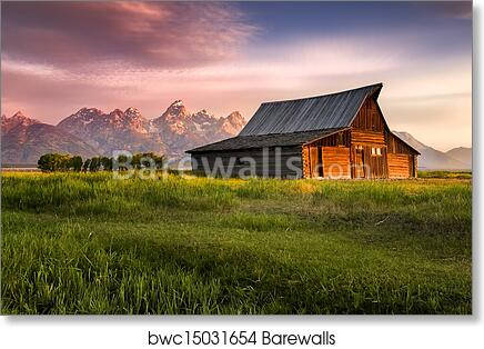 Barn Home Decor Barn Grand Teton National Park WY Poster Art Print