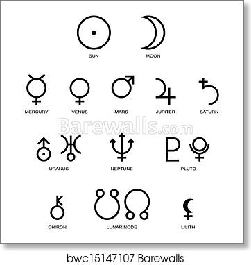 Astrology Planet Symbols Art Print Barewalls Posters Prints Bwc15147107