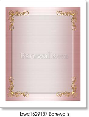 Art print of formal invitation border pink barewalls posters art print of formal invitation border pink stopboris Image collections