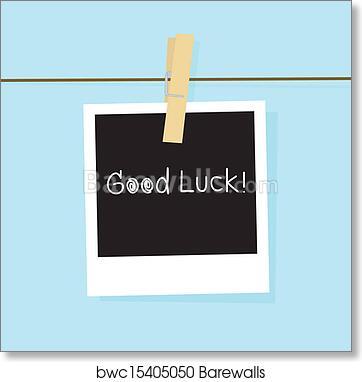 Art Print of Good luck card | Barewalls Posters & Prints | bwc15405050