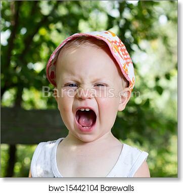 art print of boy screaming barewalls posters prints bwc15442104