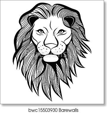 Lion Head Vector Animal Illustration For T Shirt Sketch Tattoo