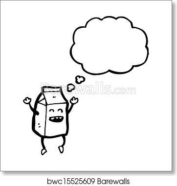 Art Print of Cartoon milk carton | Barewalls Posters & Prints ...