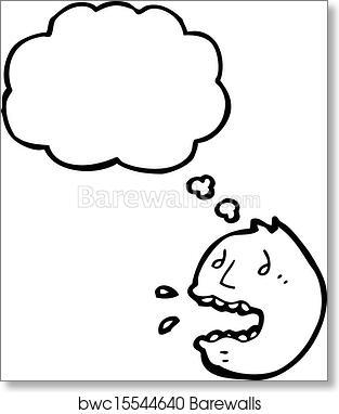 Art Print Of Panic Face Symbol Barewalls Posters Prints