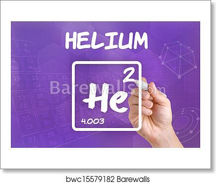 Art Print Of Symbol For The Chemical Element Helium Barewalls