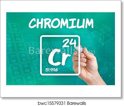 Art Print Of Symbol For The Chemical Element Chromium Barewalls