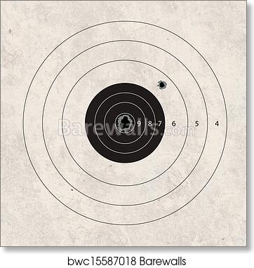 Art print of shoot target missig one