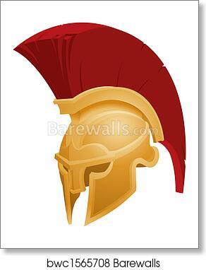 Illustration of Spartan helmet 638aa568d29