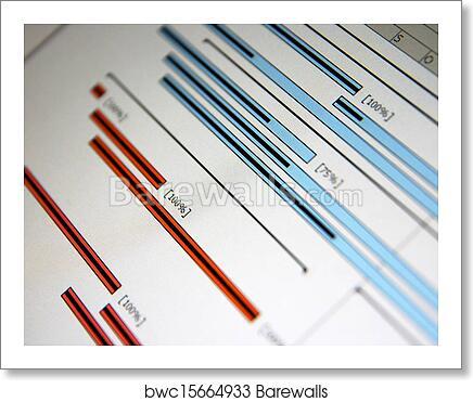 Art Print Of A Gantt Chart Is A Type Of Bar Chart That Illustrates A