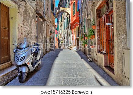 Art print POSTER CANVAS Ventimiglia