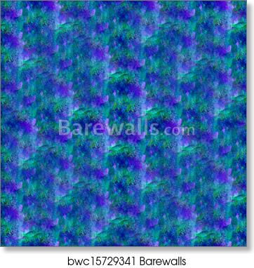 Wallpaper Background Blue Green Seamless Water Abstract Watercolor Design Ink Art Print Poster