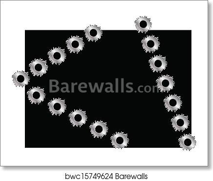 Art Print of Bullit hole frame | Barewalls Posters & Prints ...